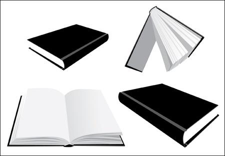 Libros desde la perspectiva de varios - ilustración