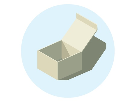isolated paper box with shadow - illustration Vector