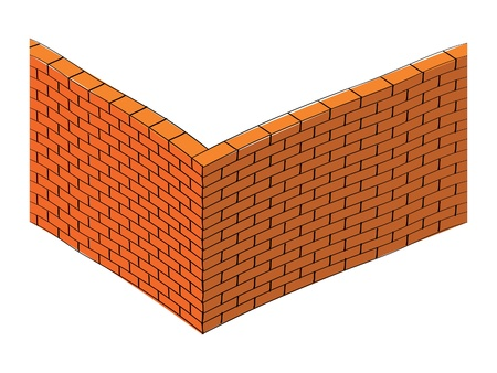white fence: 3d brick wall illustration