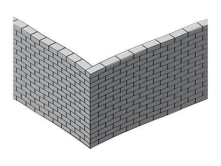 3d brick wall illustration Vector