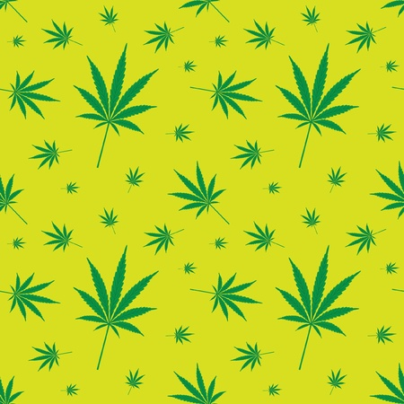 cannabis leaf: seamless cannabis leaf pattern - illustration