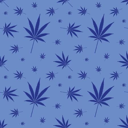 seamless cannabis leaf pattern - illustration Vector