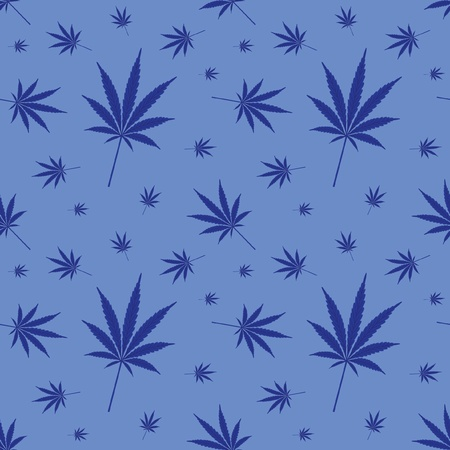 seamless cannabis leaf pattern - illustration Vector