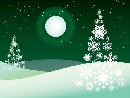 polar light: invierno al aire libre tema - Ilustraci�n