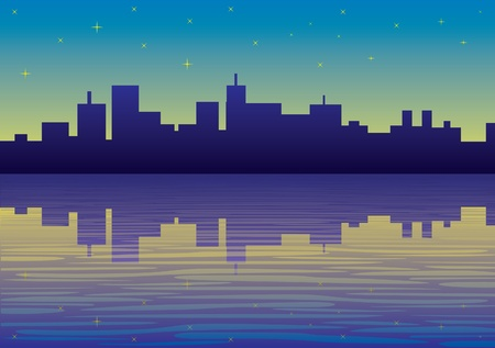 night city panorama picture - illustration Stock Vector - 11496735