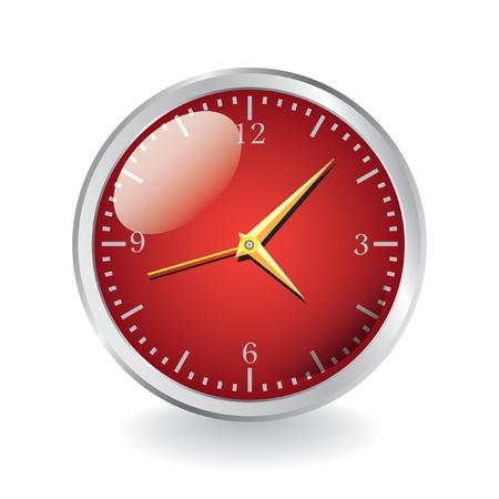 modern shiny metal clocks - realistic illustration Stock Vector - 11496937