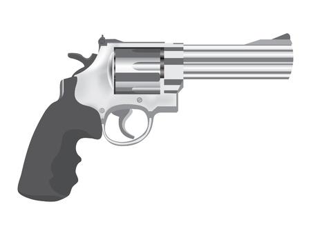 revolver: classic gun  - realistic illustration