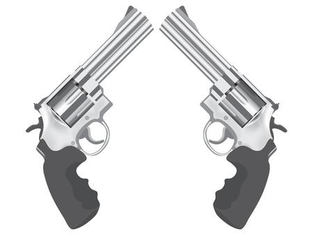 gatillo: clásico de pistola - ilustración realista
