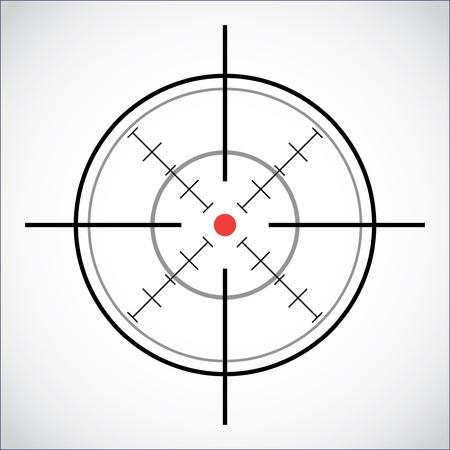 crosshair met de red dot - illustratie