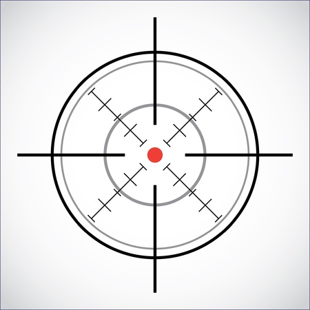 crosshair with red dot - illustration Stock Vector - 11496356