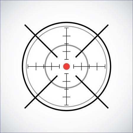con mirino red dot - illustrazione