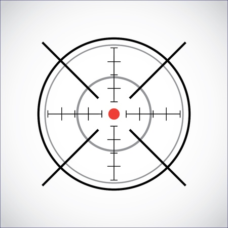 firearms: crosshair with red dot - illustration