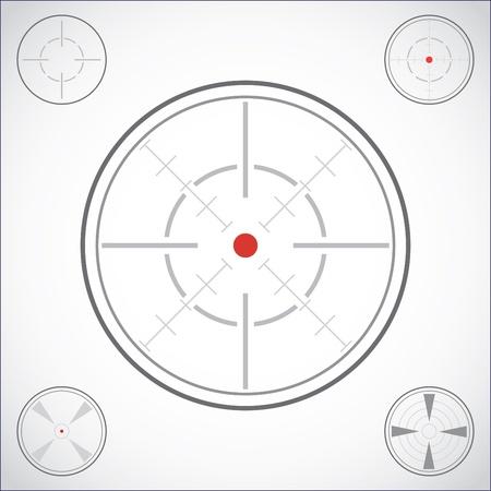 bullseye: Set Fadenkreuz - Illustration