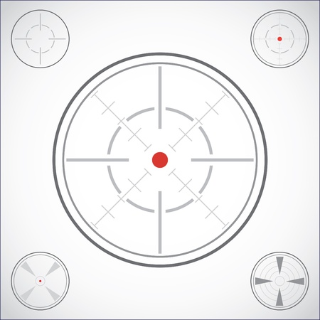 gun sight: set of crosshairs - illustration Illustration