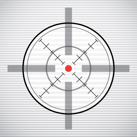 crosshair: EPS10 crosshair with red dot - illustration