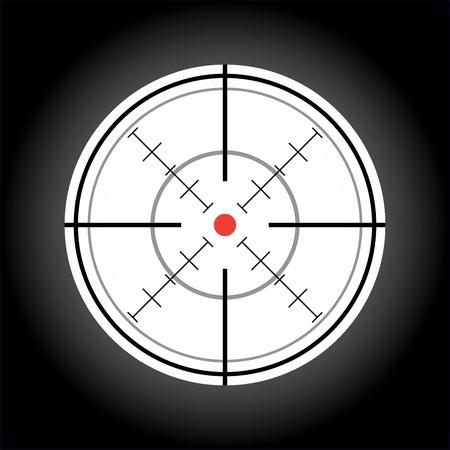 doelstelling: crosshair met de red dot - illustratie