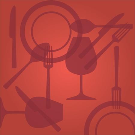 eps10 Cutlery spoon knife fork glass illustration Stock Vector - 11496542