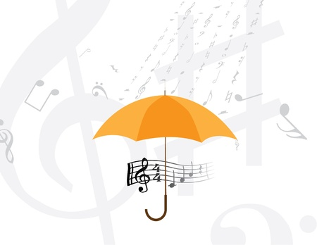 abstract rain of music notes and symbols Vector