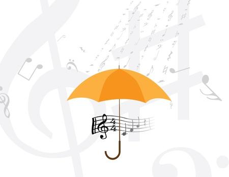 abstract rain of music notes and symbols Vector