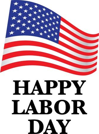 jornada de trabajo: feliz día del trabajo nos bandera - ilustración Vectores