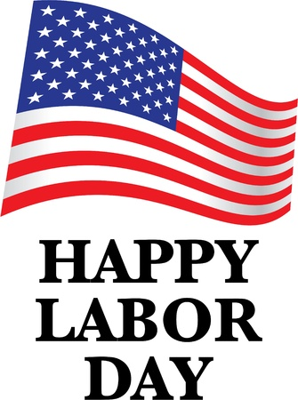 happy labor day us flag - illustration Vector