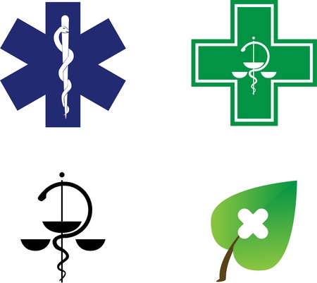 medical symbols illustration Vector