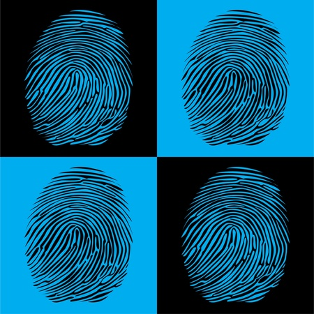 forensics: fingerprints detailed illustration pop art style Illustration