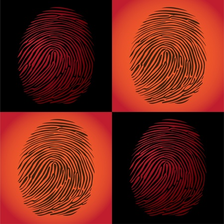 impressions: fingerprints detailed illustration pop art style Illustration