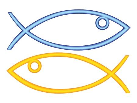 ichthus: christian fish symbol - illustration Illustration