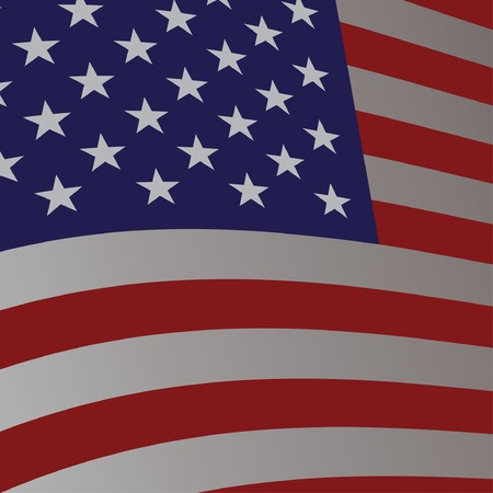 Usa flag america symbol - illustration Vector