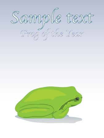 Little green tree-frog - illustration Vector