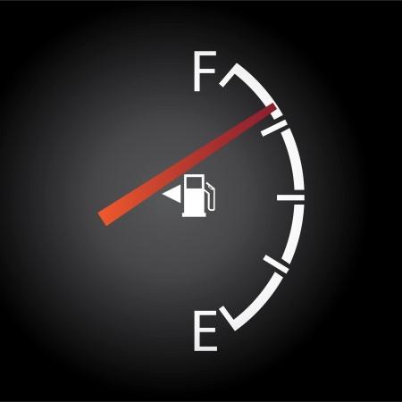 gagant: jauge � gaz isol� sur un fond sombre