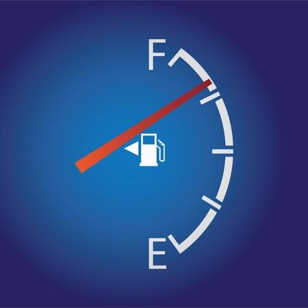 gagant: Gage de gaz isol� sur un fond sombre. Illustration