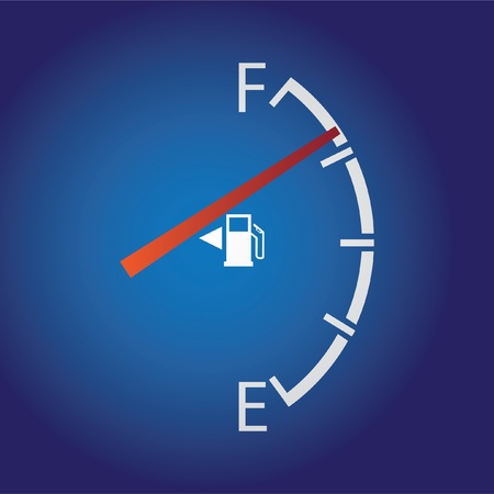 gas gage isolated on a dark background. Vector