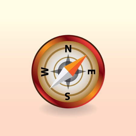 isolated compass -illustration Vector