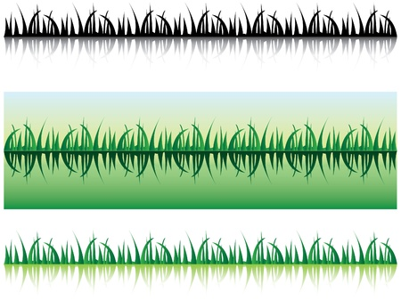 grass with shadow - illustration Vector