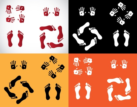 hands and foots set - illustration Stock Vector - 11904572