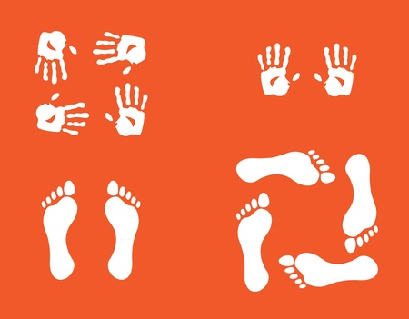 hands and foots illustration Vector