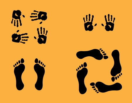 foots: hands and foots illustration Illustration