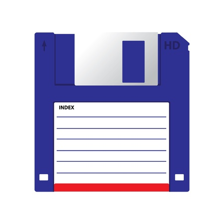 disk: HD diskette old data media illustration Illustration