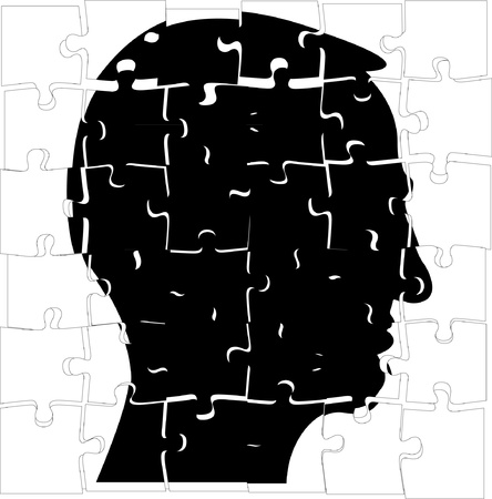 head silhouette from puzzle - illustration Stock Vector - 11904503