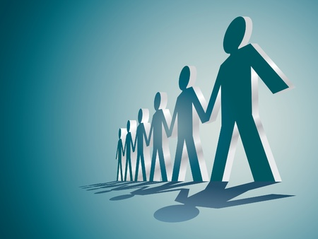 human figures in a row - illustration Vector