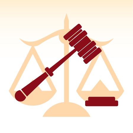 dama justicia: la justicia, el juez martillo, la ley - ilustraci�n Vectores