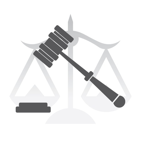 rechtvaardigheid, rechter hamer, recht - illustratie