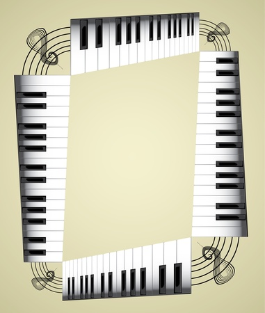 Abstract piano roll as the staircase - an illustration Vector