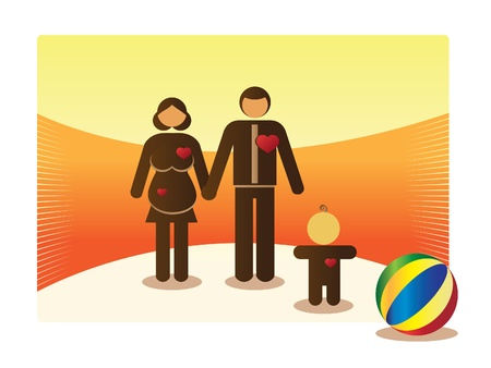 growing basic family outdoor - illustration Vector
