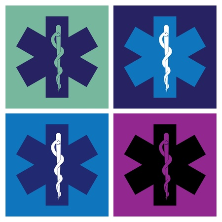 surgical: medical symbol cross in pop-art style - illustration Illustration