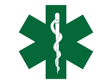 emergency medical symbol green cross - illustration Vector