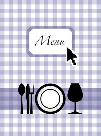 eps10 cutlery, glass and plate on menu card design Stock Vector - 12113757