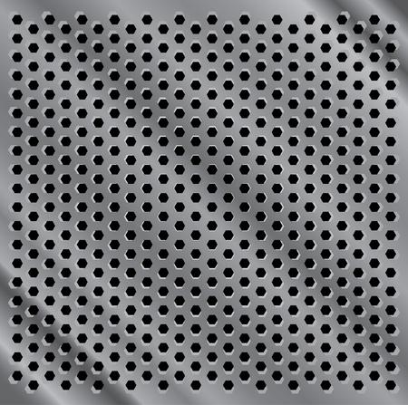 seamless metal: seamless metal indented desk background illustration